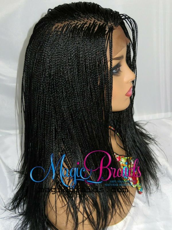 360closure braided wig