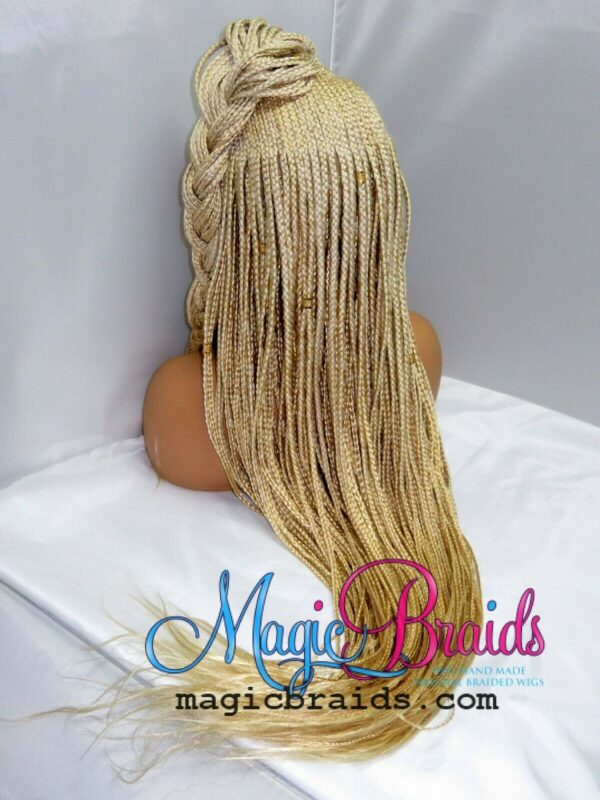 blonde braided wig lace