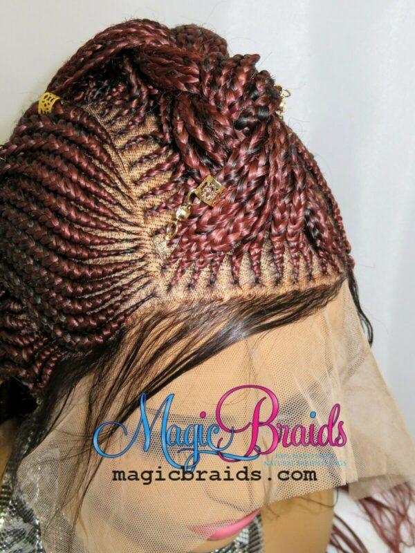 closure braided wig red wig