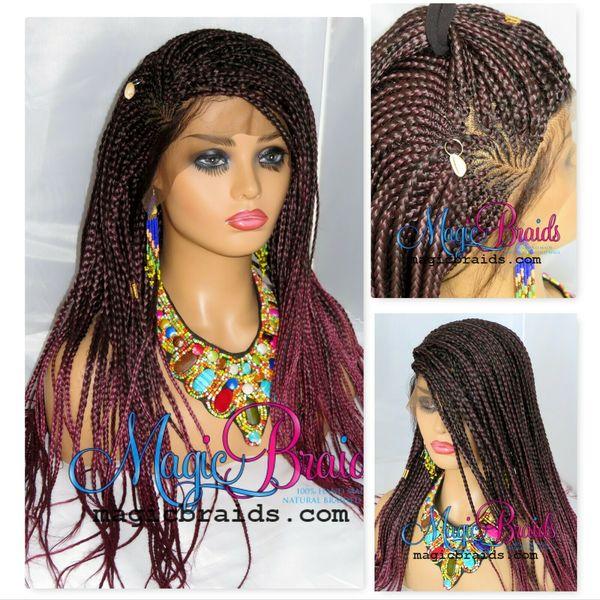 frontal closure cornrows wig