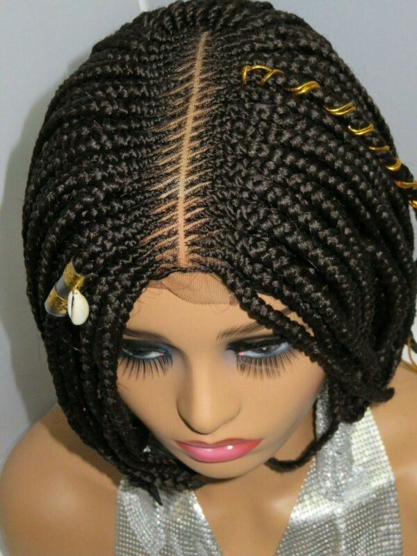 box braids lace front wig brown