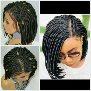 black wig box braids bob