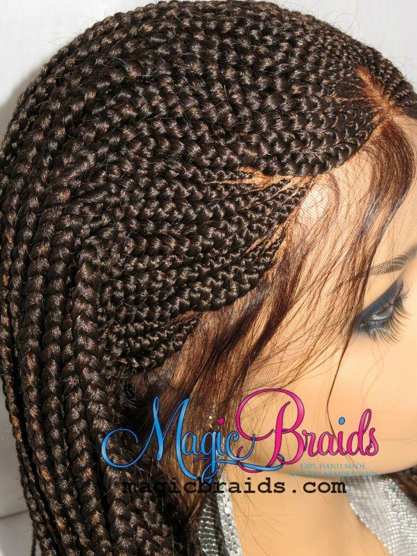 cornrows braided wig