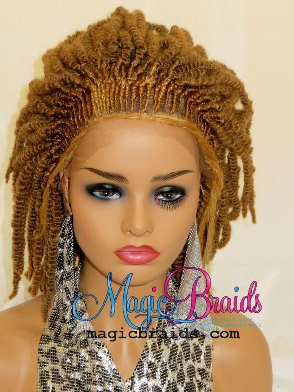 twists blonde wig braided wig