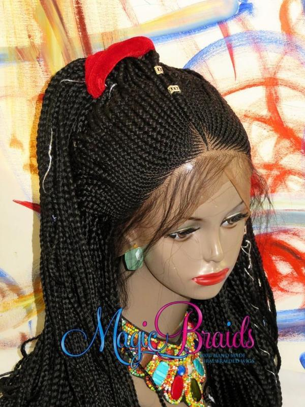 custom braided wig corn rows
