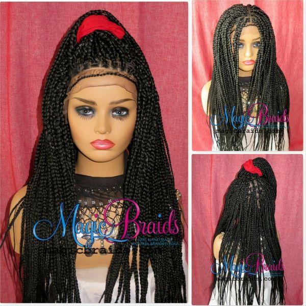 box braids wigs braided
