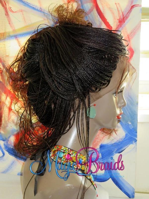 custom braided wig