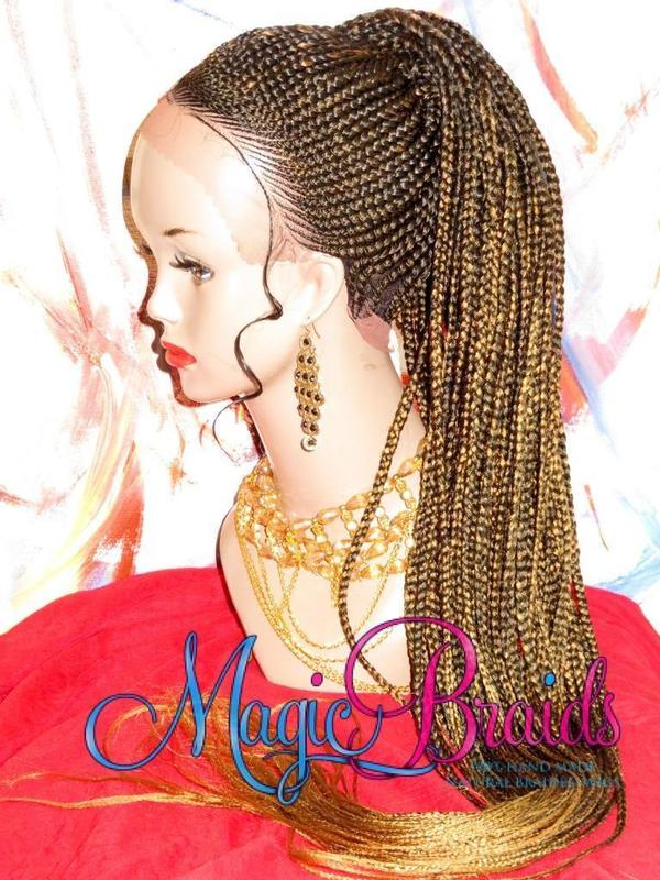 corn row wig ponytail wig