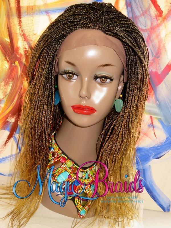 custom braided wig micro braids