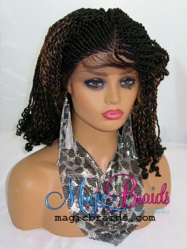 micro million twists black wig