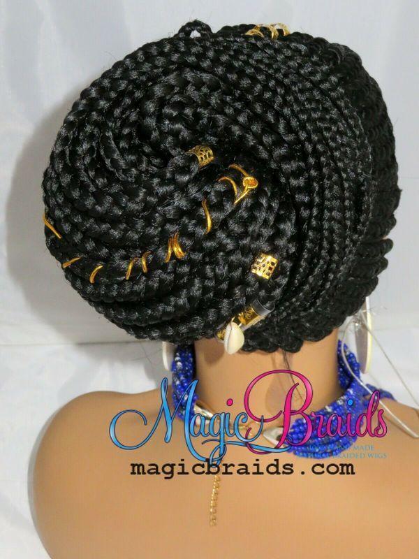custom made cornrows braided full lace wig
