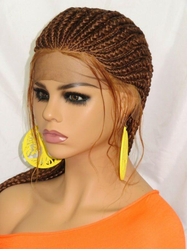 braided wig Ghana weaving very long 4 feet hand made color #30 auburn gorgeous