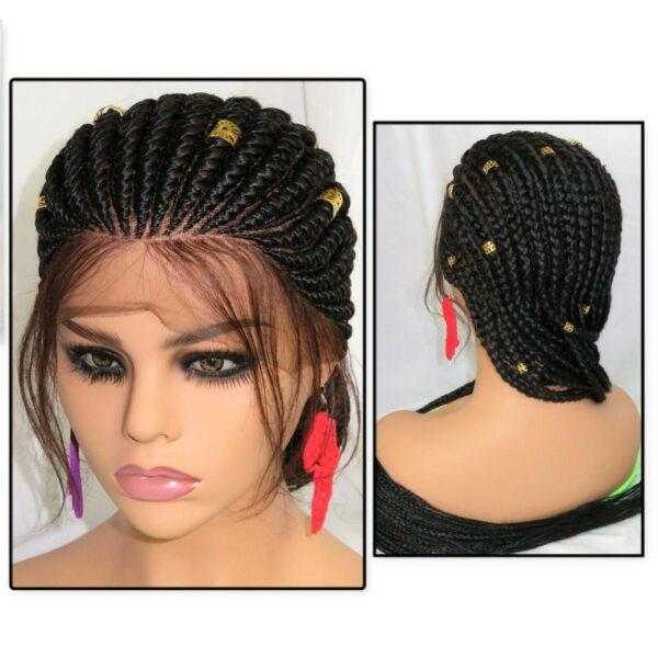 braided wig Ghana weaving very long 4 feet 100% hand made jet black gorgeous
