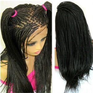 Braided wig Black wig Long wig 100% hand made Micro millions braids full head