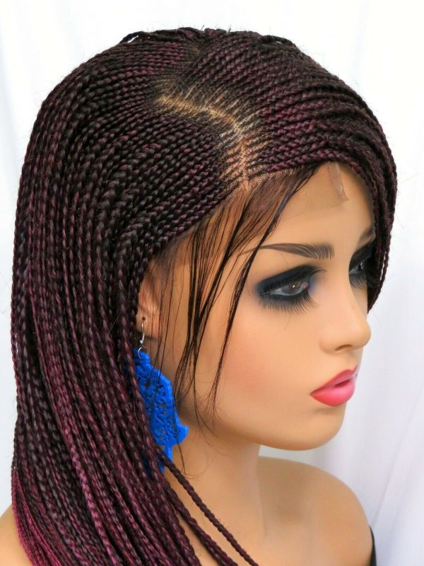 100% hand made ombre wig long red wig gorgeous braided wig, cornrows braids