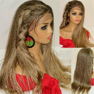 Blonde wig Braided Lace Front Wig Braided Wig Micro Millions Braids long