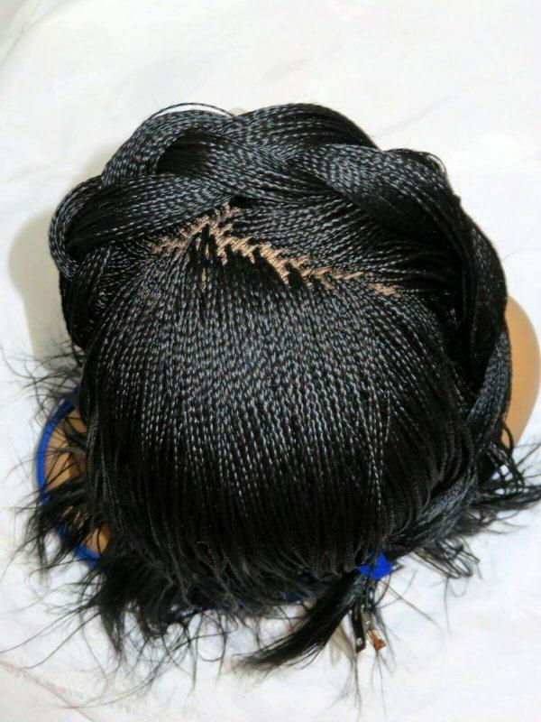 Braided Lace Front Wig Braided Wig Micro Millions Braids long black Wig NWT