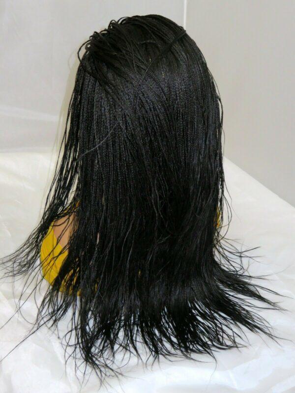 Braided lace Wig lace closure black Wig Long Micro Millions Braids handmade