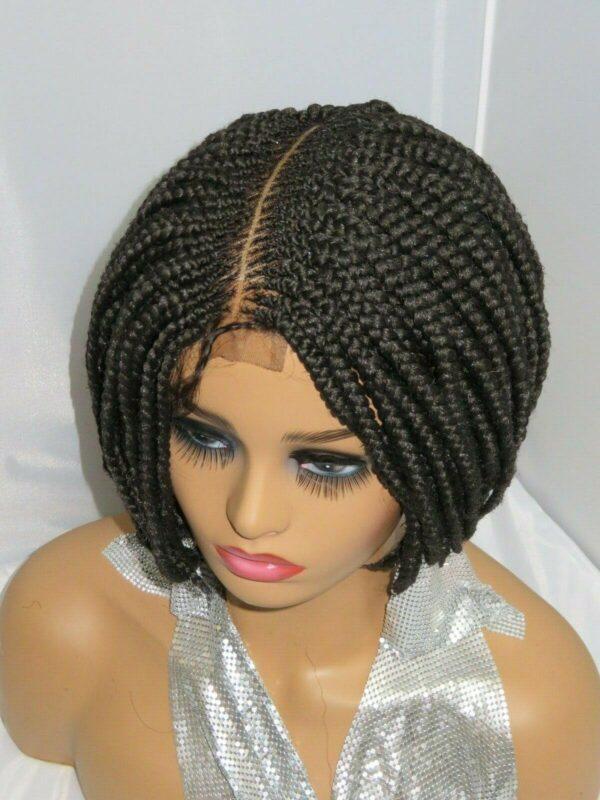 Black Wig Box Braids Bob Wig Braided Wig Lace Front wig Corn Rows Summer